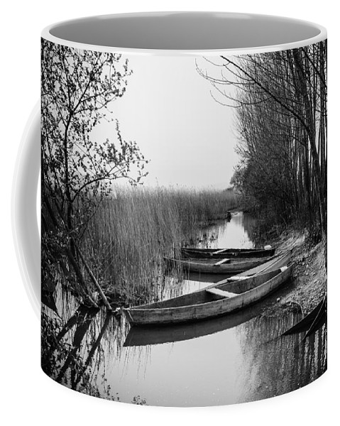 Rowboat Coffee Mug featuring the photograph Rowboats by Marco Oliveira