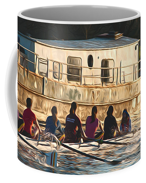 Rowers Coffee Mug featuring the photograph Rowers by Andrew Michael