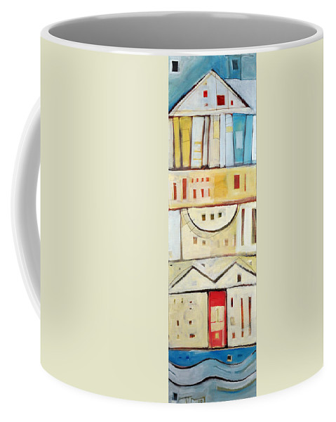 House Coffee Mug featuring the painting Rowhouse No. 1 by Tim Nyberg