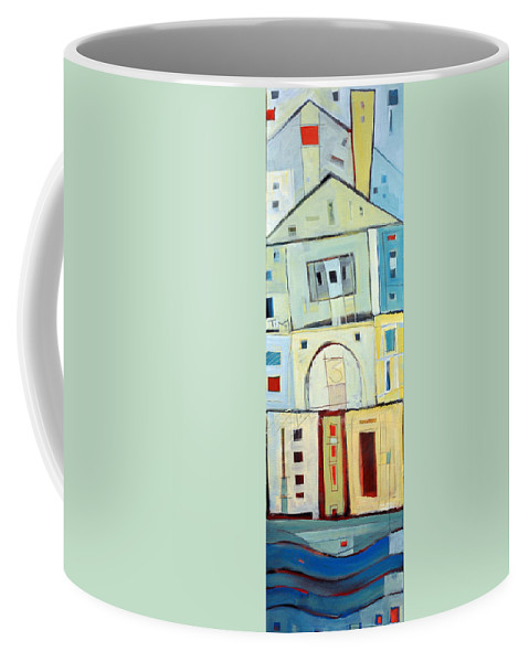 House Coffee Mug featuring the painting Rowhouse No. 3 by Tim Nyberg