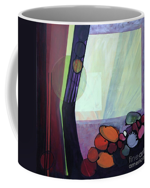 Abstract Coffee Mug featuring the painting Roxie by Marlene Burns