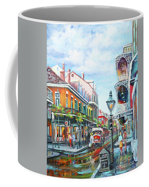 New Orleans Coffee Mug featuring the painting Royal Balconies by Dianne Parks