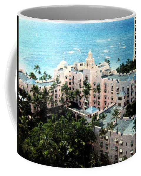 1986 Coffee Mug featuring the photograph Royal Hawaiian Hotel by Will Borden