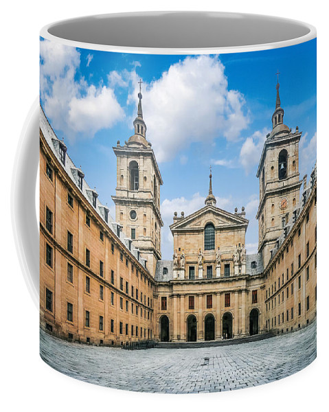 Ancient Coffee Mug featuring the photograph Royal Monastery El Escorial by JR Photography
