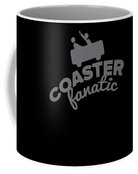 Adventure-seeker Coffee Mug featuring the drawing Rpller Coaster Fanatic Gift by Kanig Designs