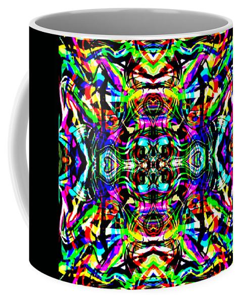 Abstract Coffee Mug featuring the digital art Ruba by Blind Ape Art