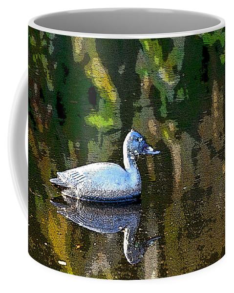 Duck Coffee Mug featuring the photograph Rubber Duck by Shirley Sykes Bracken