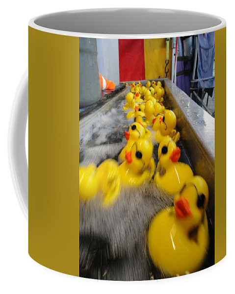Fun Coffee Mug featuring the photograph Rubber Duckies by Trish Hale
