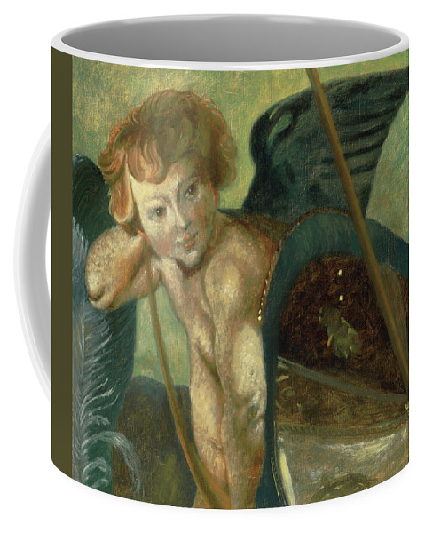 Angel Coffee Mug featuring the painting Ruben's Angel by Shelley Irish