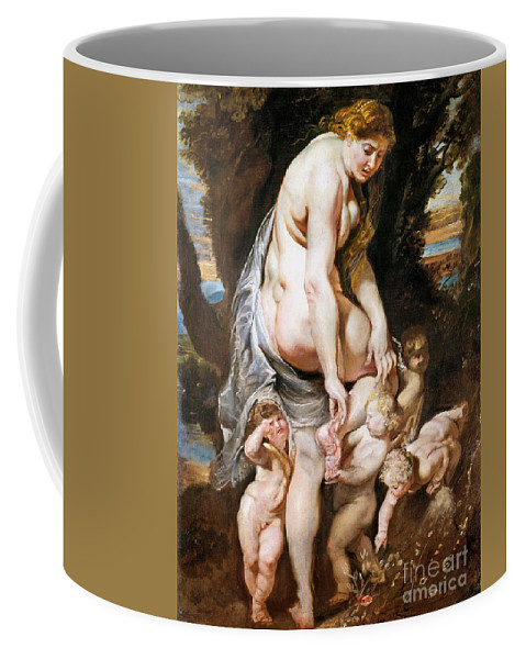 1606 Coffee Mug featuring the painting Rubens: Venus, C1606-09 by Granger