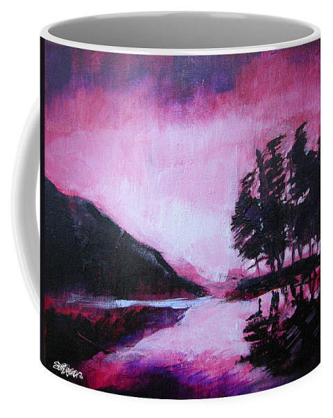 Ruby Dawn Coffee Mug featuring the painting Ruby Dawn by Seth Weaver