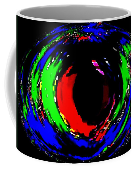 Abstract Coffee Mug featuring the digital art Ruby Eye by Will Borden