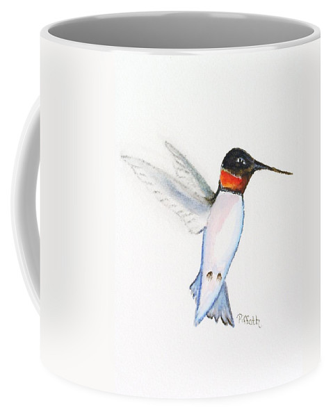 Hummingbird Coffee Mug featuring the painting Ruby Hummer by Patricia Piffath