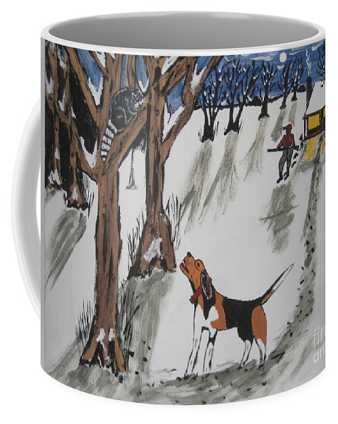Dog Coffee Mug featuring the painting Ruby by Jeffrey Koss