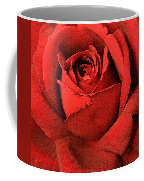 Rose Coffee Mug featuring the photograph Ruby Rose by Marna Edwards Flavell