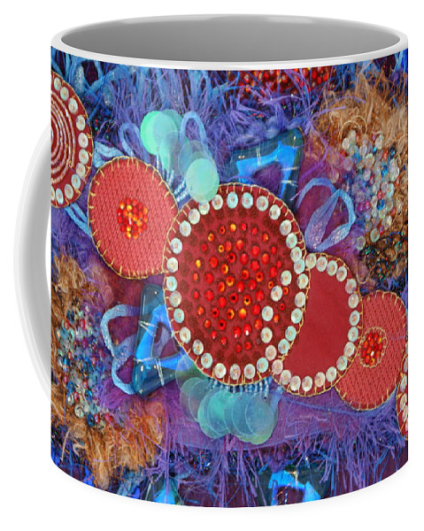 Coffee Mug featuring the mixed media Ruby Slippers 1 by Judy Henninger