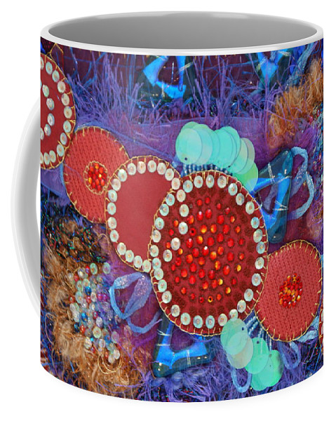 Coffee Mug featuring the mixed media Ruby Slippers 2 by Judy Henninger