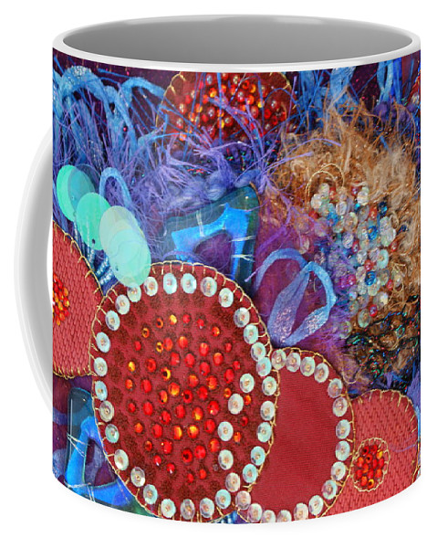 Coffee Mug featuring the mixed media Ruby Slippers 3 by Judy Henninger