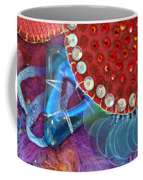 Coffee Mug featuring the mixed media Ruby Slippers 4 by Judy Henninger