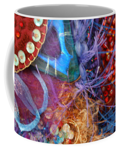 Coffee Mug featuring the mixed media Ruby Slippers 6 by Judy Henninger