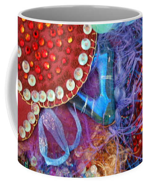 Coffee Mug featuring the mixed media Ruby Slippers 7 by Judy Henninger
