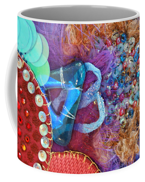 Coffee Mug featuring the mixed media Ruby Slippers 8 by Judy Henninger