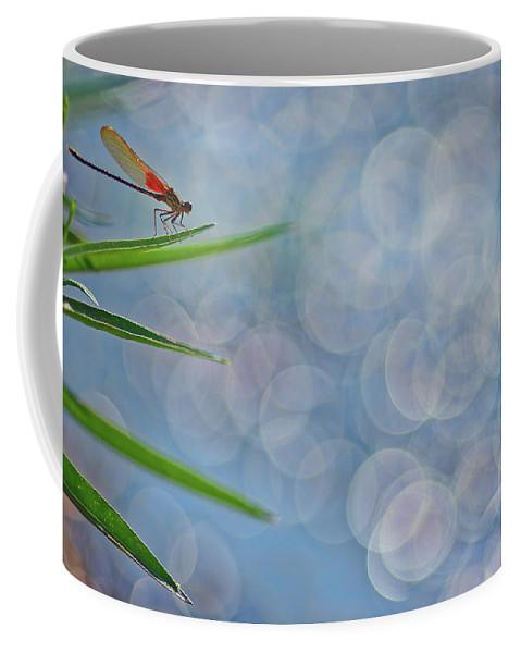Bokeh Coffee Mug featuring the photograph Rubyspot by Robert Charity