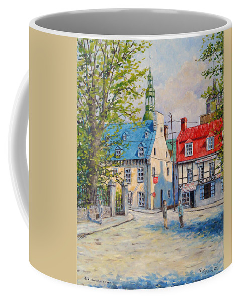 Ste Anne Coffee Mug featuring the painting Rue Ste Anne 1965 by Richard T Pranke