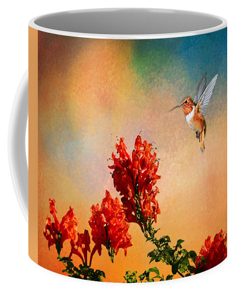 Rufous Coffee Mug featuring the photograph Rufous Dream by Lynn Bauer