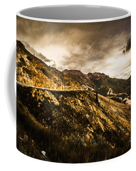 Mountain Coffee Mug featuring the photograph Rugged And Intense Mountain Background by Jorgo Photography - Wall Art Gallery