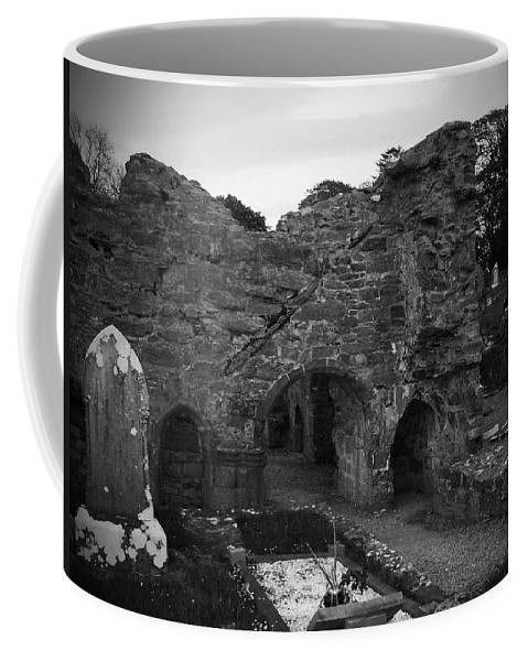 Irish Coffee Mug featuring the photograph Ruins At Donegal Abbey Donegal Ireland by Teresa Mucha