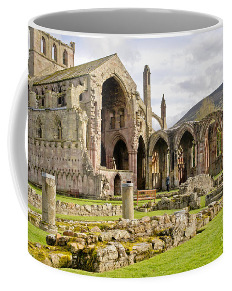 Melrose Abbey Coffee Mug featuring the photograph Ruins. Melrose Abbey. by Elena Perelman