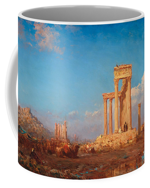 Felix Ziem Coffee Mug featuring the painting Ruins. Palmyra by Felix Ziem