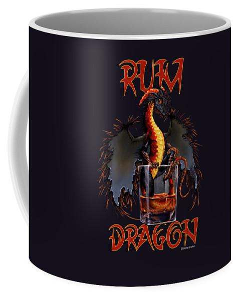 Dragon Coffee Mug featuring the digital art Rum Dragon by Stanley Morrison