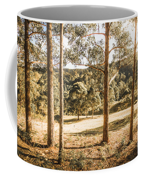 Clearing Coffee Mug featuring the photograph Rural Paddock In Australian Countryside by Jorgo Photography - Wall Art Gallery