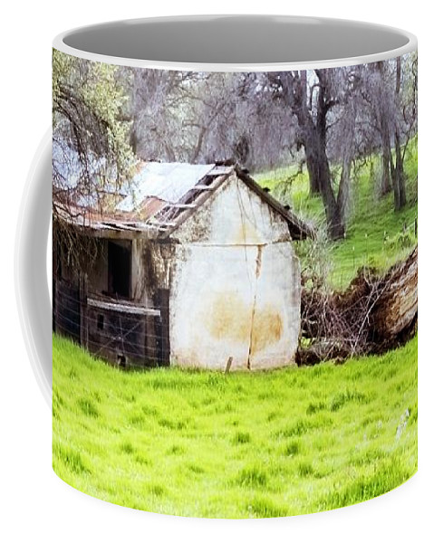 Farms Coffee Mug featuring the photograph Rural Ruin by Norman Andrus