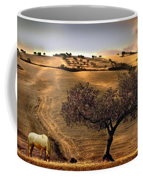 Landscape Coffee Mug featuring the photograph Rural Spain View by Mal Bray