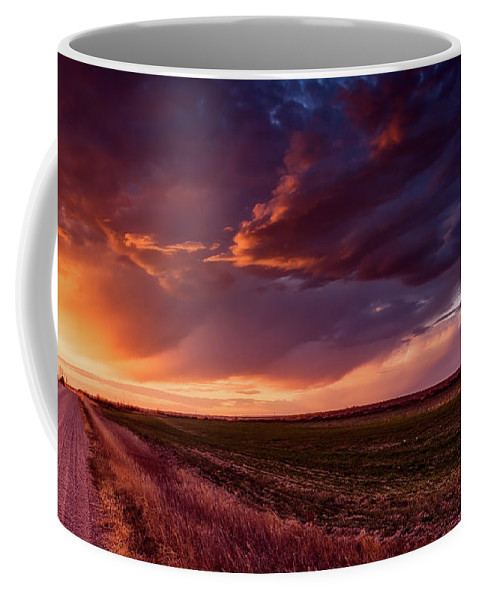 Sunset Coffee Mug featuring the photograph Rural Sunset Beauty by L O C