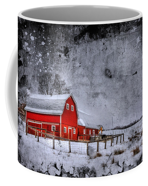 Barn Coffee Mug featuring the photograph Rural Textures by Evelina Kremsdorf