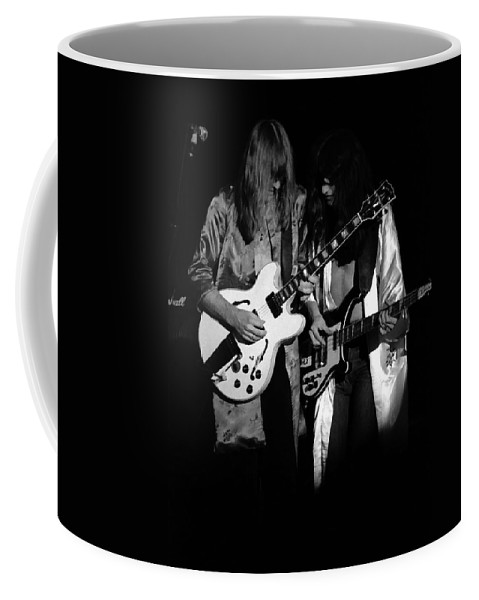 Rock Art Coffee Mug featuring the photograph Rush 77 #52 Enhanced Bw by Ben Upham
