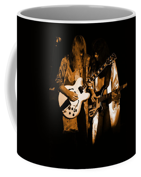 Rock Art Coffee Mug featuring the photograph Rush 77 #52 Enhanced In Amber by Ben Upham