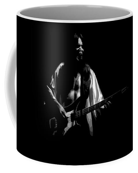 Rock Art Coffee Mug featuring the photograph Rush 77 #56 Enhanced Bw by Ben Upham