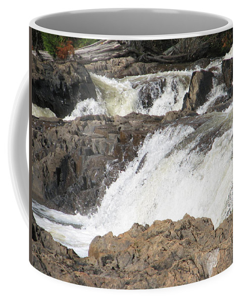 Waterfall Coffee Mug featuring the photograph Rushing by Kelly Mezzapelle