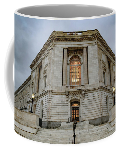 America Coffee Mug featuring the photograph Russell Senate Office Building by Cityscape Photography