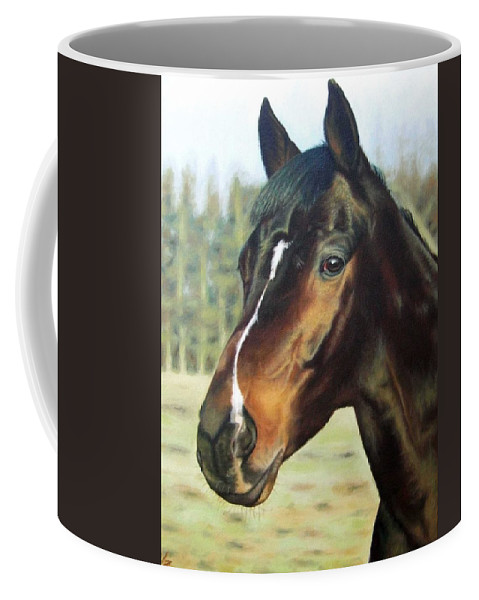 Horse Coffee Mug featuring the painting Russian Horse by Nicole Zeug