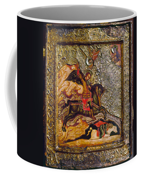 17th Century Coffee Mug featuring the photograph Russian Icon: Demetrius by Granger