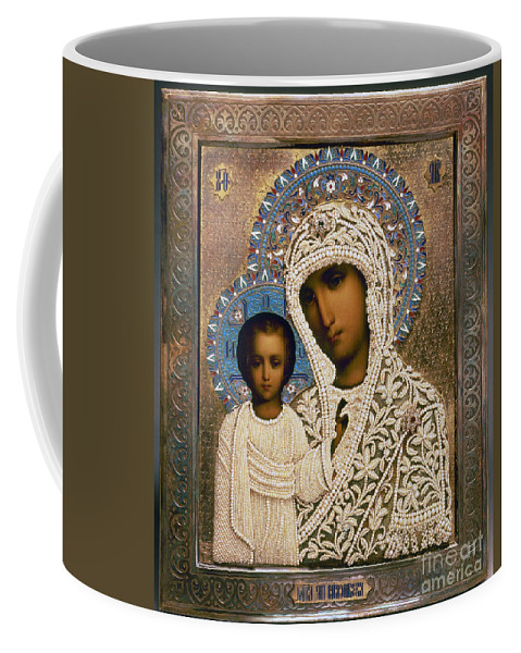 1896 Coffee Mug featuring the photograph Russian Icon: Mary by Granger