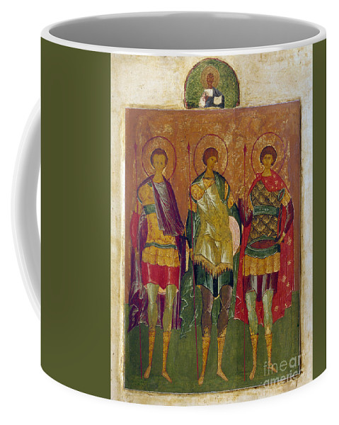 16th Century Coffee Mug featuring the photograph Russian Icon: Saints by Granger