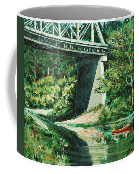 River Coffee Mug featuring the painting Russian River by Rick Nederlof