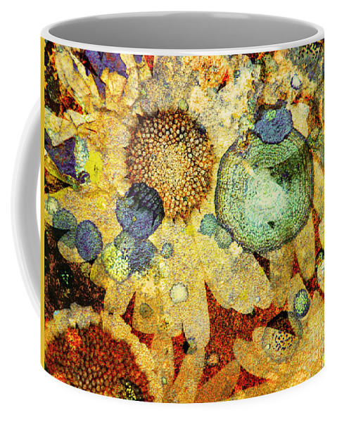 Texture Coffee Mug featuring the photograph Rust And Flowers by Tara Turner